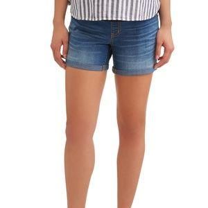 Time Tru  Maternity Plus Denim Jean Shorts